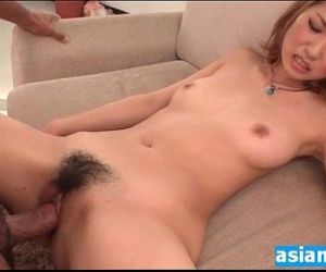 I cum in her hot hairy japanese MILF pussy - 5 min