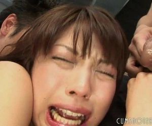 Submissive Young Japanese Teen Stuffed By Multiple Cocks -..