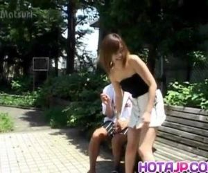 Sayaka Hagiwara has snatch touched outdoor and fucked in..