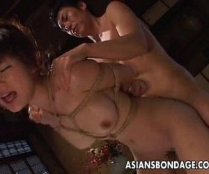 Tied up and she gets her bubble butt fucked - 8 min