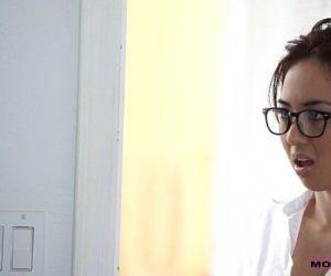 Mom teachs sex stepson Seduced tutor Mila Jade and Nina..