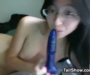 Naughty Asian Nerd With A Toy - 9 min