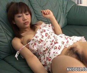 Boys get aroused as they spy on the masturbating Asian..