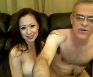 Old Man and Chinese Girl on Webcam - 19 min