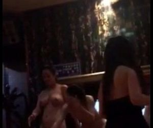 Party sexy girl in karaoke room - 1 min 20 sec