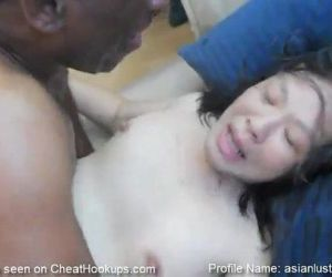 Big Butt Asian MILF Cant Stop Cumming on BBC - 9 min