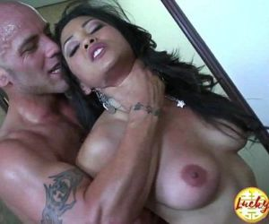 Gorgeous interracial big titted asian MILF secretary..