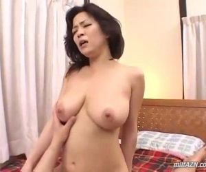 Busty Milf Sucking Young Guy Cock In 69 Fucked Getting..