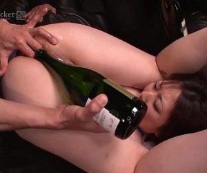 41Ticket - Busty Kaoru Hirayama Ass & Mouth Rekt in 3some..