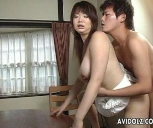Asian busty bitch gets her hairy muff filled up - 8 min