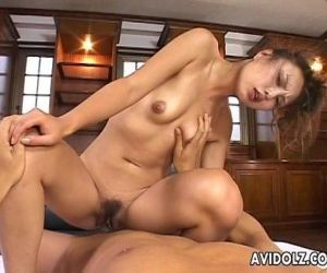 Gorgeous Japanese slut loves to ride on a thick boner - 8..