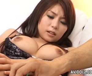 Asian bimbo getting her wet cunt toyed and finger fucked -..