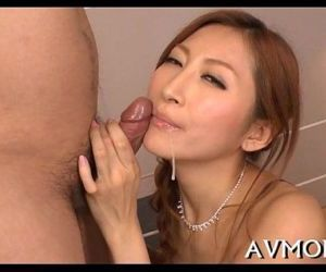 Hot milf devours large knob - 5 min