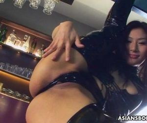 PVC boots bitch getting fucked and is creamed - 1 min 5 sec