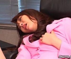 Luscious Japanese chick boned with a dildo - 8 min