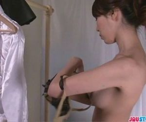 Sexy barmaid Rino goes home with a new friend - 8 min
