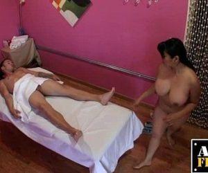 Mika Tan Gives A Massage And Blowjob - 5 min