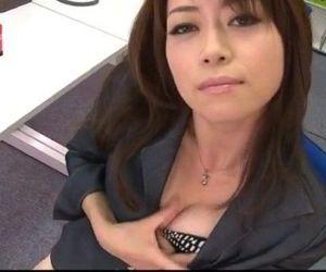 Office bimbo, Maki Hojo, plays with her fanny - 12 min