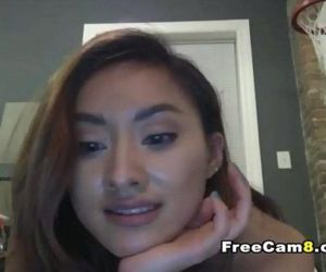 Skinny Small Tits Hot Babe Teasing Naked on Cam - 8 min